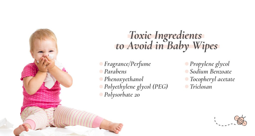 Toxic Ingredients to avoid in baby wipes