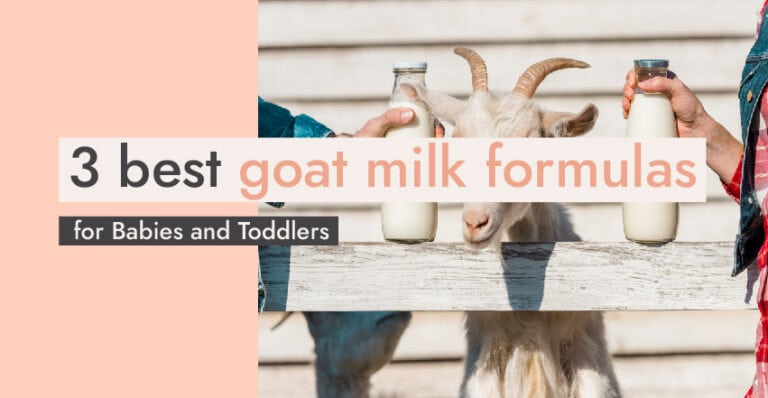 3 best goat milk formulas for babies and toddlers