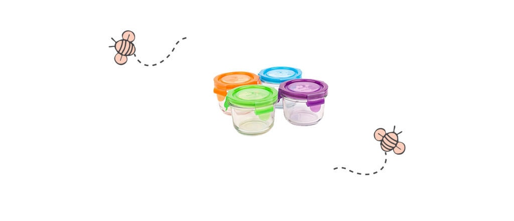 Wean Green Glass Baby Storage Containers