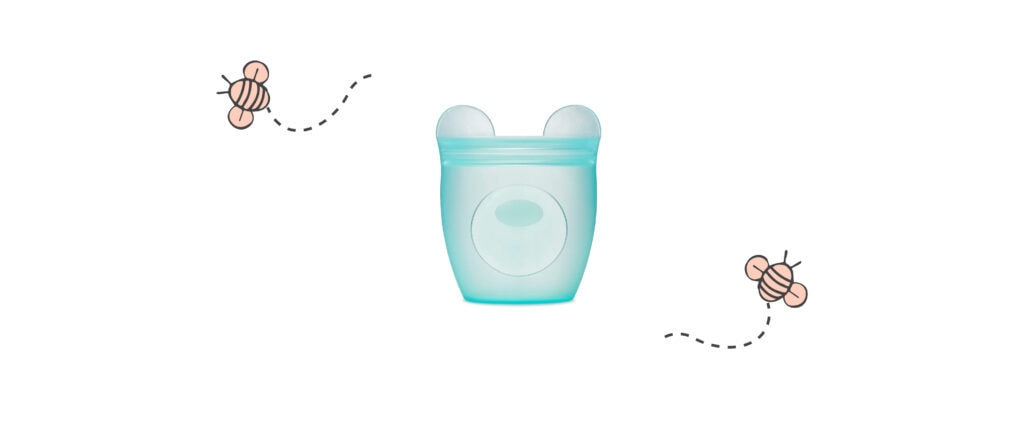 Zip Top Silicone Snack Containers